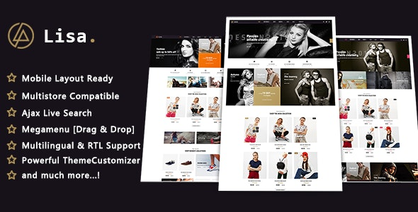 Lisa - Fashion Stylish PrestaShop 1.7 Theme - Fashion PrestaShop