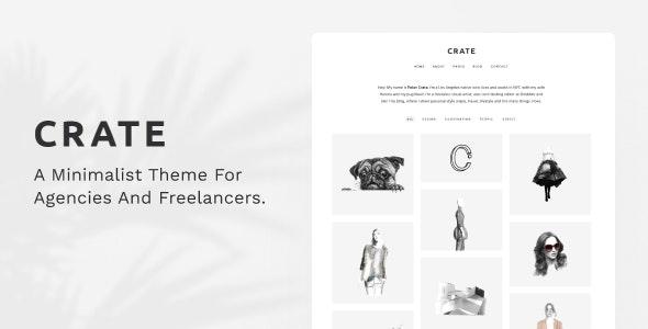 Crate - Minimalist WordPress Theme - Portfolio Creative
