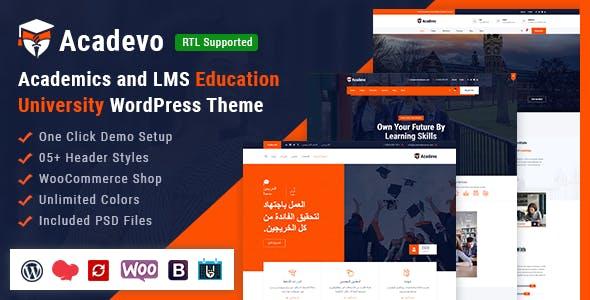 Acadevo - Academics and Education LMS WordPress Theme