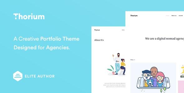 Thorium - Portfolio for Freelancers and Agencies - Portfolio Creative