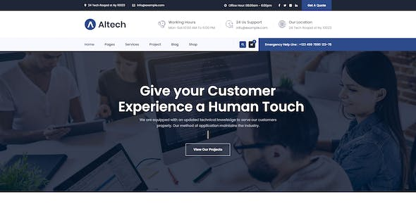 Altech | IT Solutions & Multi Services HTML5 Template