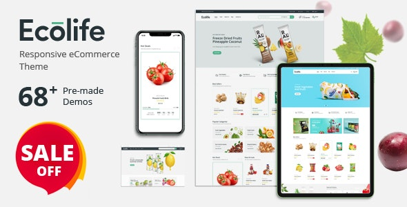 Ecolife - Organic, Food, Cosmetic & Multipurpose Prestashop Theme - Health & Beauty PrestaShop