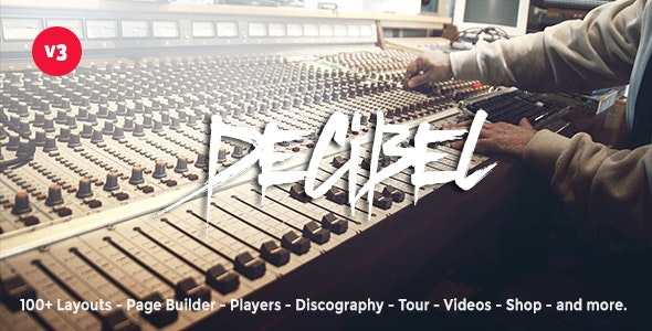 Decibel - Professional Music WordPress Theme - Music and Bands Entertainment