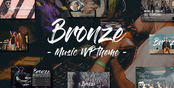 Bronze - A Professional Music WordPress Theme - Music and Bands Entertainment