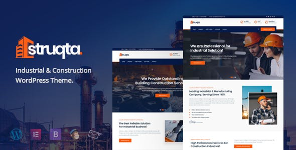Struqta - Industrial & Construction Elementor WordPress Theme