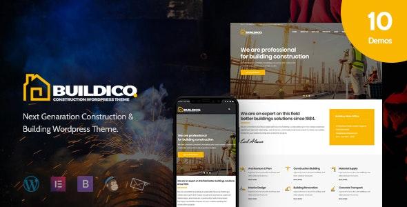 Buildico - Construction WordPress Theme - Business Corporate