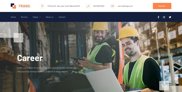 Trago - Moving Company Website Template