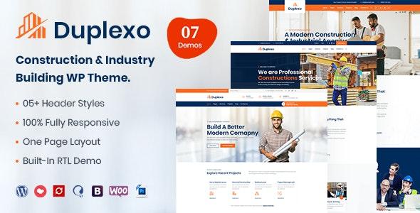 Duplexo – Construction Renovation WordPress Theme - Business Corporate