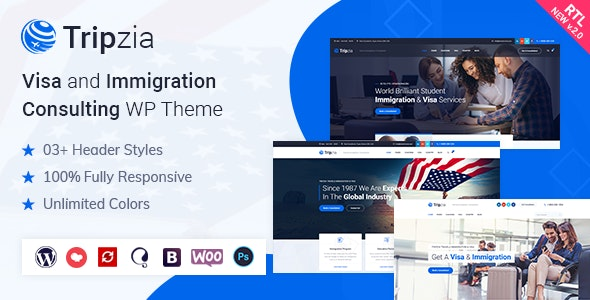 Tripzia – Immigration Consulting WordPress Theme - Business Corporate