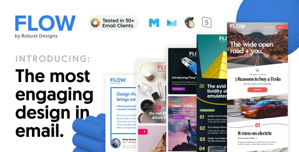 Flow - Responsive Multipurpose HTML Email Templates + Robust Editor - Email Templates Marketing