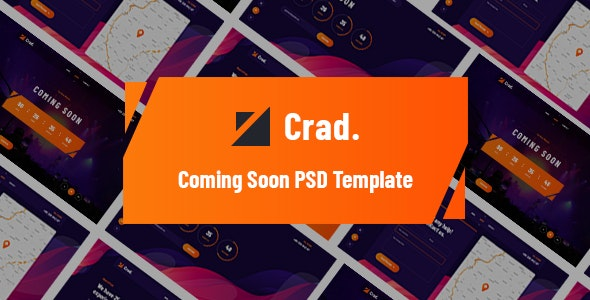 Crad - Coming Soon PSD Template - Corporate Photoshop