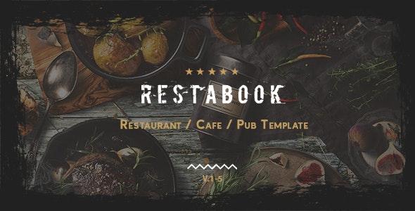 Restabook - Restaurant / Cafe / Pub Template - Restaurants & Cafes Entertainment