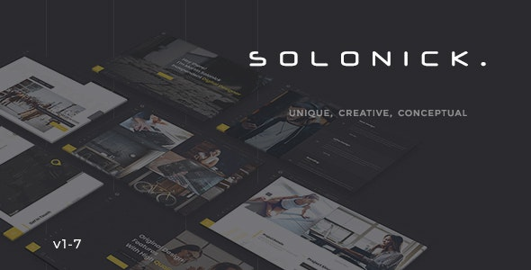 Solonick - Creative Responsive Personal Portfolio - Personal Site Templates