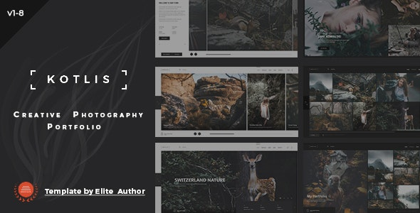 Kotlis - Responsive  Photography Portfolio - Photography Creative
