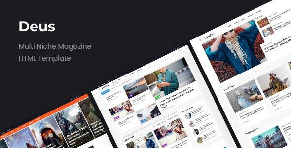 Deus | Multi-Niche Newspaper HTML Magazine - Entertainment Site Templates