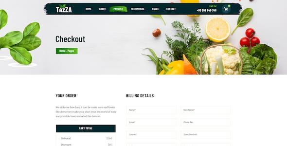 TazZA - Organic Food XD Template