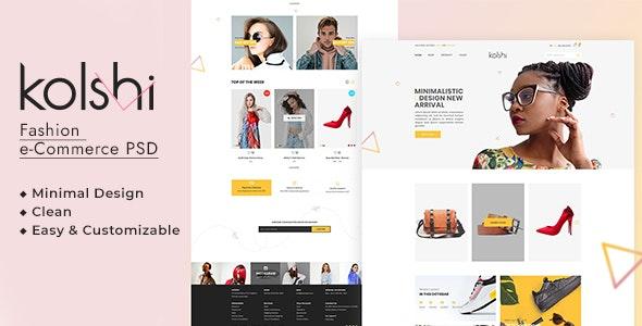 Kolshi E-commerce PSD Template - Retail Photoshop
