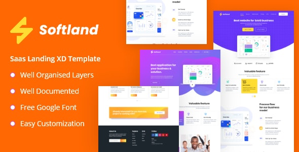 Softland - Saas Landing Page Template - Software Technology