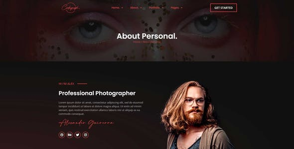 Codagraph - Photography & Portfolio Elementor Template Kit