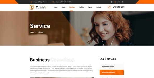 Conset - Business Consulting XD Template