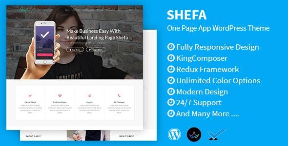 Shefa - One Page App WordPress Theme - Software Technology