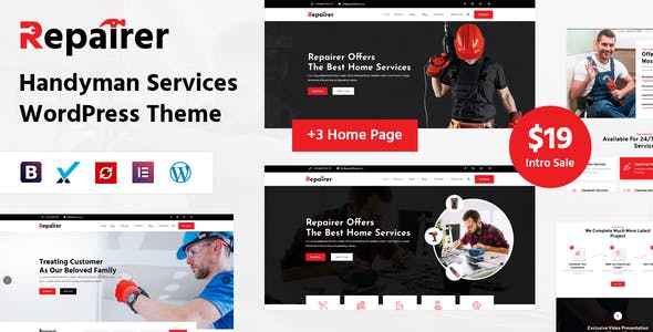 Repairer - Handyman Services WordPress Theme