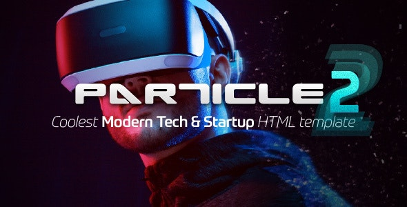 Particle - Modern Tech & Startup HTML Template - Technology Site Templates