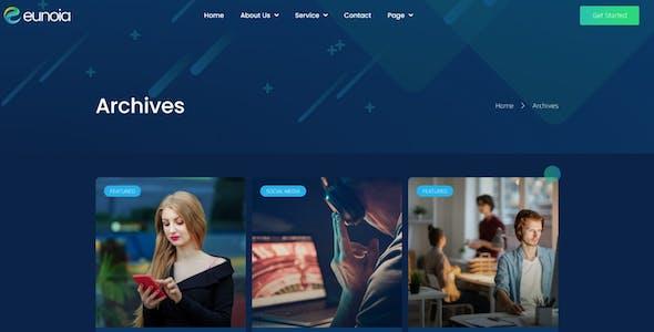 Eunoia - Tech Company Digital Service Elementor Template Kit