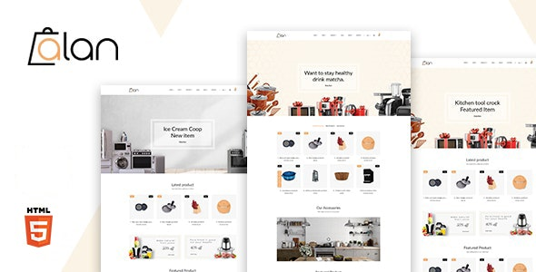 Alan v1.0 – Kitchen Accessories Bootstrap 5 HTML Template