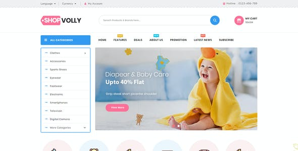 ShopVolly - Responsive Prestashop 1.7 Theme