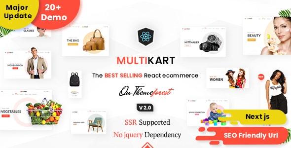 Multikart - React Next JS Multipurpose Ecommerce, React Hooks , GraphQL & REST API - Shopping Retail