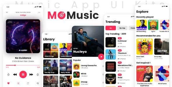 MO Music – App UI Design