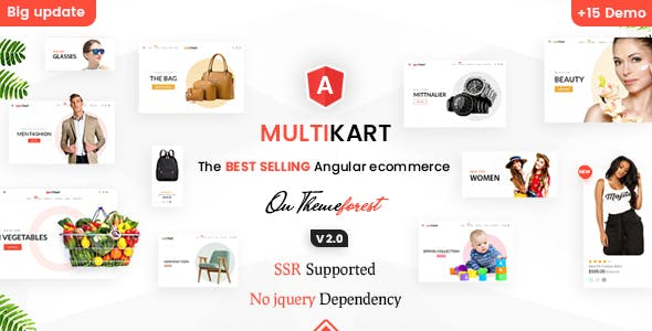 Multikart - Responsive Angular 12 eCommerce Template