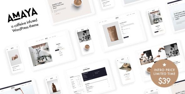 Amaya - Coffee Shop WordPress Theme - Restaurants & Cafes Entertainment
