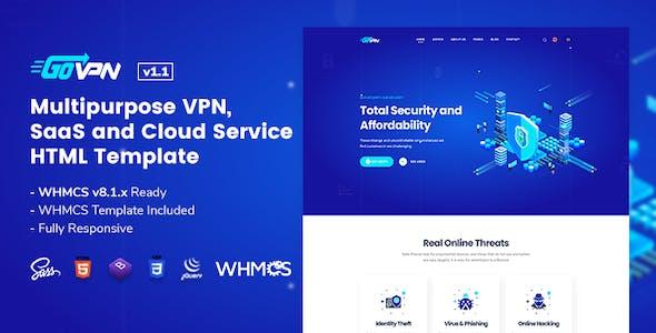 GOVPN | Responsive VPN and SaaS Website Template