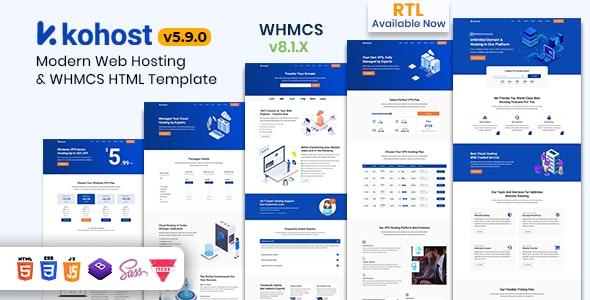 Kohost v5.9.0 – Modern Web Hosting & WHMCS Template