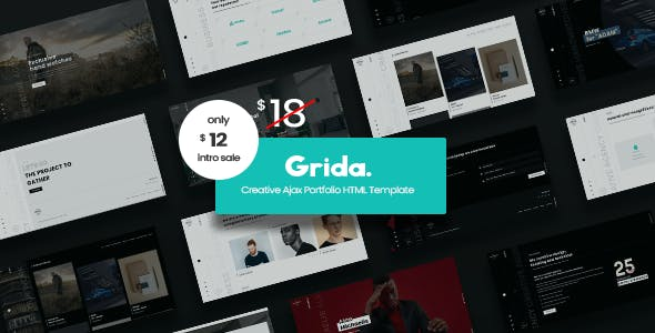 Grida - Creative Agency Ajax Portfolio & personal HTML Template
