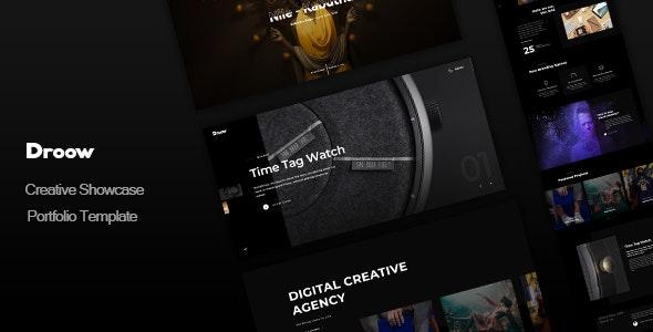 Droow - Creative Showcase Portfolio Template - Portfolio Creative