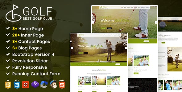 GolfClub - Sports Course HTML Template