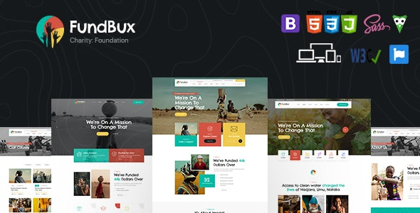 FundBux - Charity & Fundraise Template - Charity Nonprofit