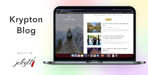 Krypton Blog - Jekyll - Personal Blog Theme