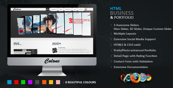 Colone 3 HTML Template - Business Corporate