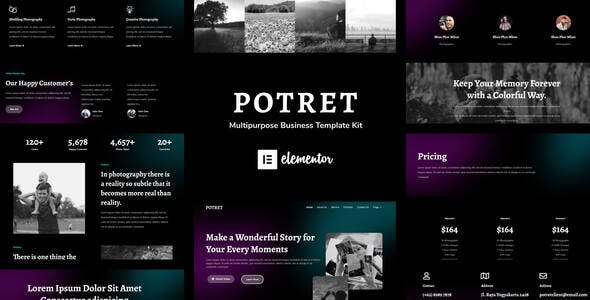 Potret - Photography Portfolio Elementor Template Kit