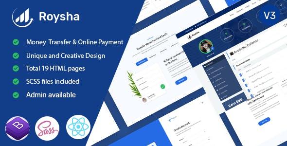 Roysha - Online Payments React Template