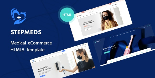 Stepmeds - Medical Equipment Store eCommerce HTML Template - Health & Beauty Retail