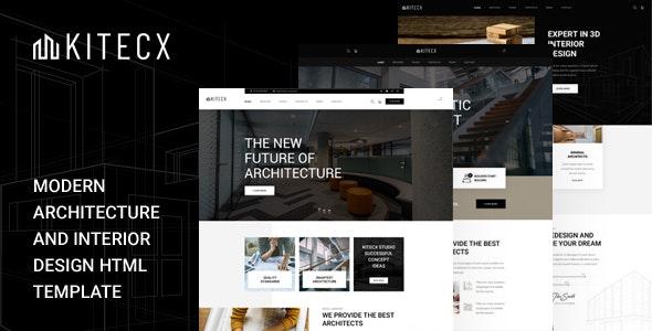 Kitecx - Architecture & Interior HTML Template - Portfolio Creative