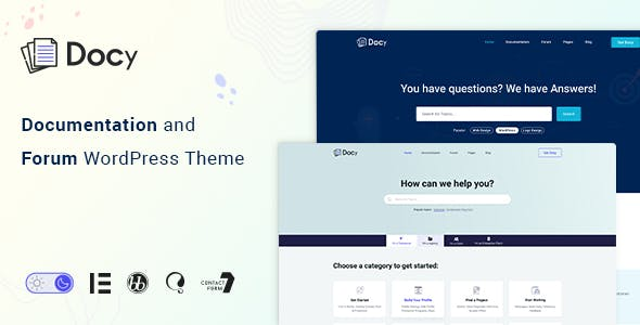 Docy - Documentation and Forum WordPress Theme