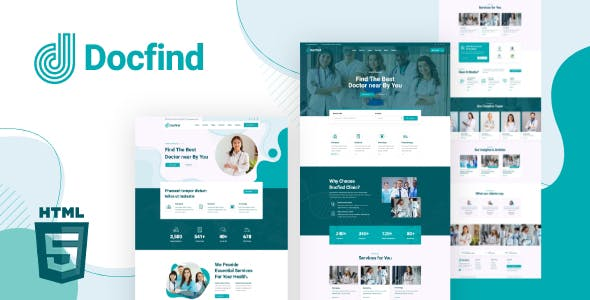 Docfind – Doctors directory and Book Online HTML Template
