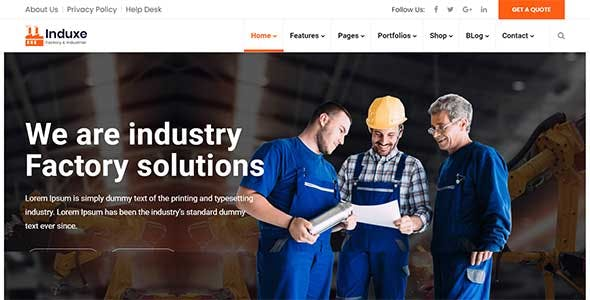 Induxe - Factory and Industry WordPress