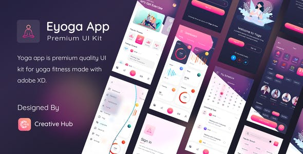 Eyoga App Premium UI Kit For Sketch